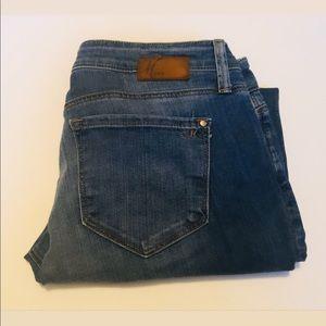 Blue Wash Straight Leg Jeans